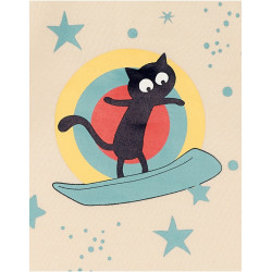 """Body manches longues """"Chat surf"""""""