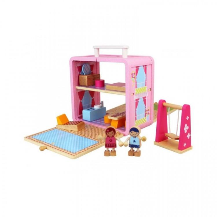Mallette Maison de poupée bois