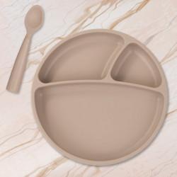 Assiette compartimentée à ventouse