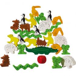 Pyramide d'animaux - jeu d'adresse