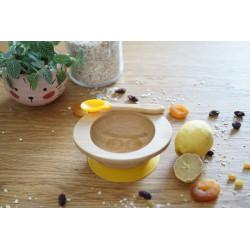 Set de repas bol et cuillère bambou & sil