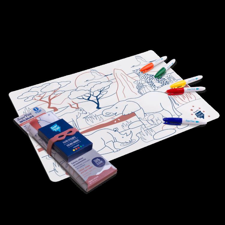 Set en silicone à colorier - Savane afri
