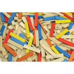 Batibloc color - 100 planchettes en bois
