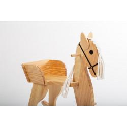 Cheval à bascule en bois massif