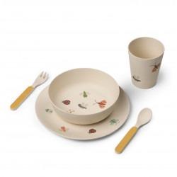 Set de repas bambou - Papillon