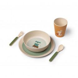 Set de repas bambou - 3 amis