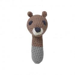 Hochet en crochet animal