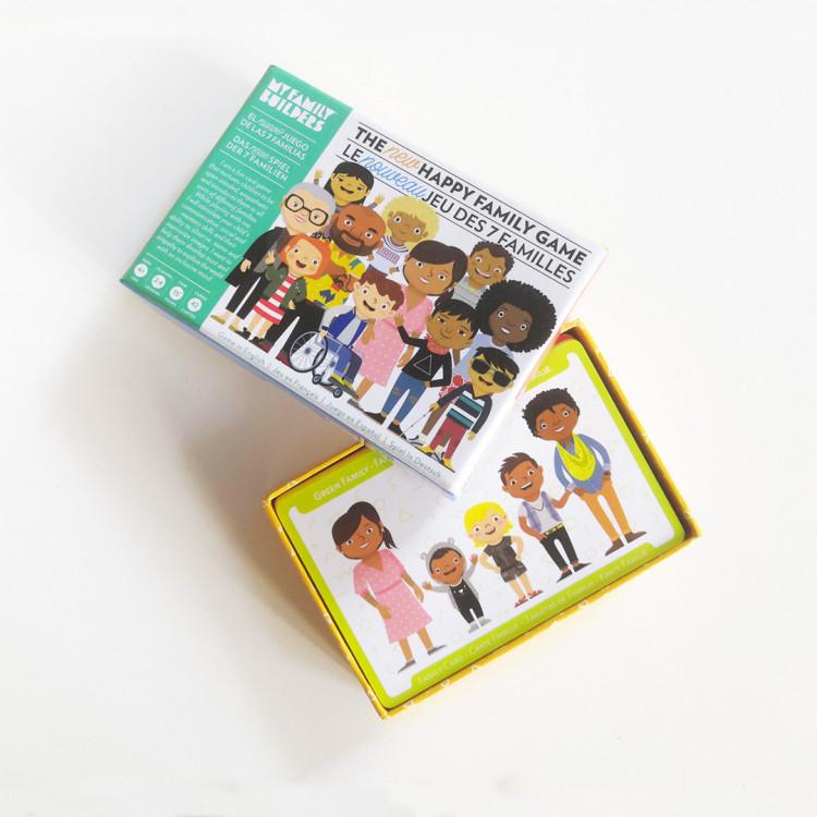 Jeux pour enfants inclusifs non genrés jeu des 7 familles jeud de scoiété inclusif my family builders en vente chez Émeu
