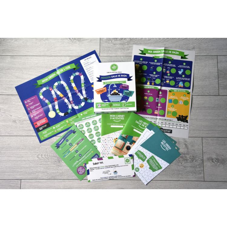 Ma green planète, jeux de société enfants, sensibilisation zéro déchet, écologie, en vente chez Émeu